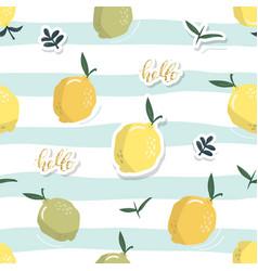 summer seamless pattern with lemons festive vector image