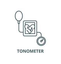 Tonometer line icon linear concept vector