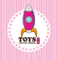 Toys design over pink background vector