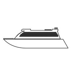 Transatlantic cruise liner black color path icon vector
