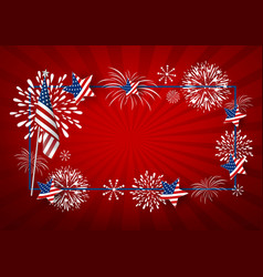 Usa background design america flag and vector