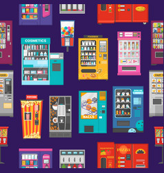 vending machine vend food or beverages and vector image