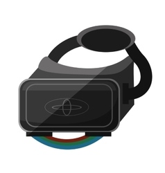 Vr glasses smart high technology shadow vector