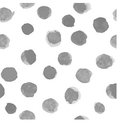 watercolor polka dot pattern light grey on vector image