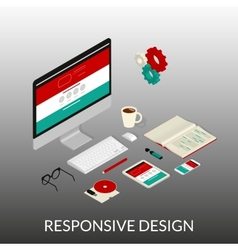 Website development vector image