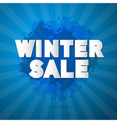 Winter Sale Title on Abstract Blue Background vector