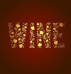 word wine vector image