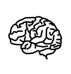 Brain icon isolated on white background vector image