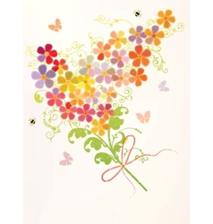 bunch of beautiful flowers vector image vector image