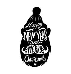 Christmas silhouettes Santa vector image vector image