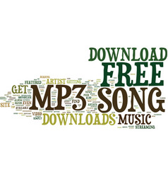 Free mp song download text background word cloud vector