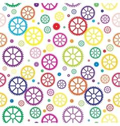 Mechanical wheels seamless vector image vector image