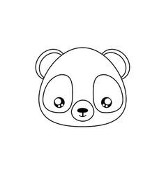 Panda drawing face vector