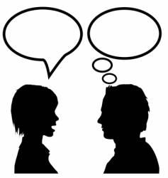 speech communication vector image vector image