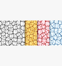 abstract backgrounds set with nets vector image vector image