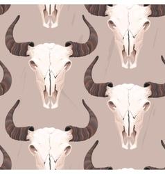 Buffalo skull seamless vector