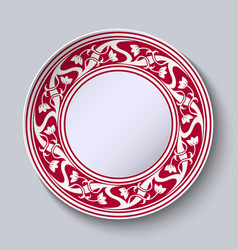 decorative plate with empty space in the center vector image vector image