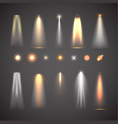 Different light effect elements bright lights vector
