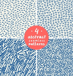 Doodle abstract patterns part 4 vector image