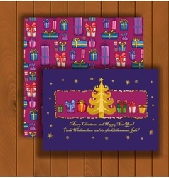 Elegant Christmas card with an envelope vector image vector image