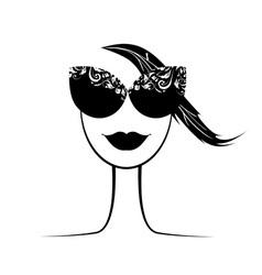 female fashion silhouette vector image vector image