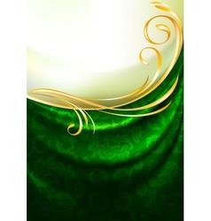 green fabric drapes vector image vector image