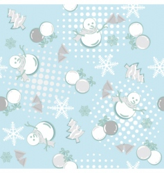 seamless winter vector image