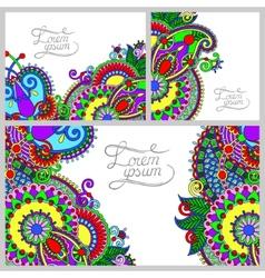 set of floral decorative background vector image
