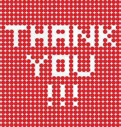 Thank you dots vector