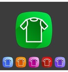 tshirt t-shirt tee icon flat web sign symbol logo vector image