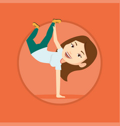 young woman breakdancing vector image