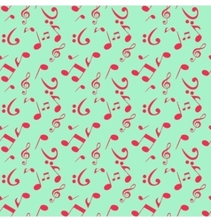 Abstract Music Seamless Pattern Background vector image