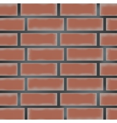 brick wall made of red bricks vector image