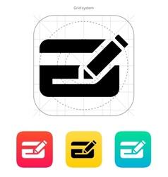 Edit plastic credit card icon vector image