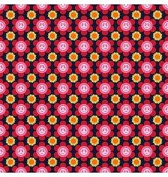 Hippie flower pattern vector