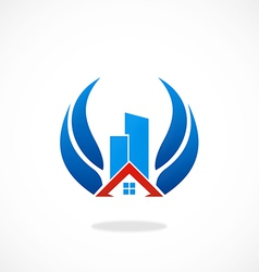 realty building abstract logo vector image