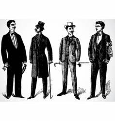 Retro rich men vector