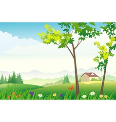 Spring or summer landscape vector image vector image