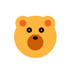 bear cartoon animal head vector image vector image