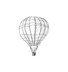 Doodle air balloon vector image