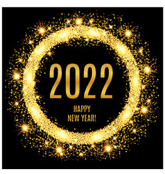 2021 happy new year glowing gold background vector