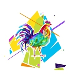 Abstract bright rooster sign of 2017 vector