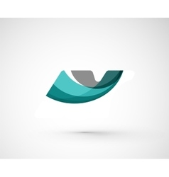 Abstract geometric company logo vector