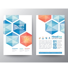 Abstract hexagon Poster Brochure Flyer template vector