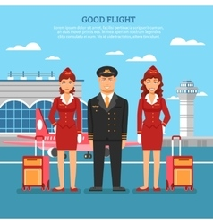 Airport Employees Poster vector image
