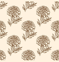 autumn vintage seamless pattern with flowers vector image