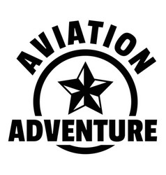 Aviation adventure logo simple style vector