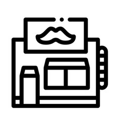 barber shop building icon outline vector image
