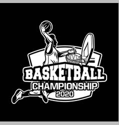 basketball championship 2020 modern and vector image