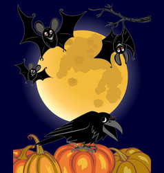 bats and raven vector image